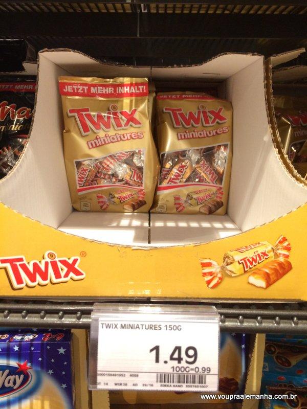 Mini Twix 100g: €1,49