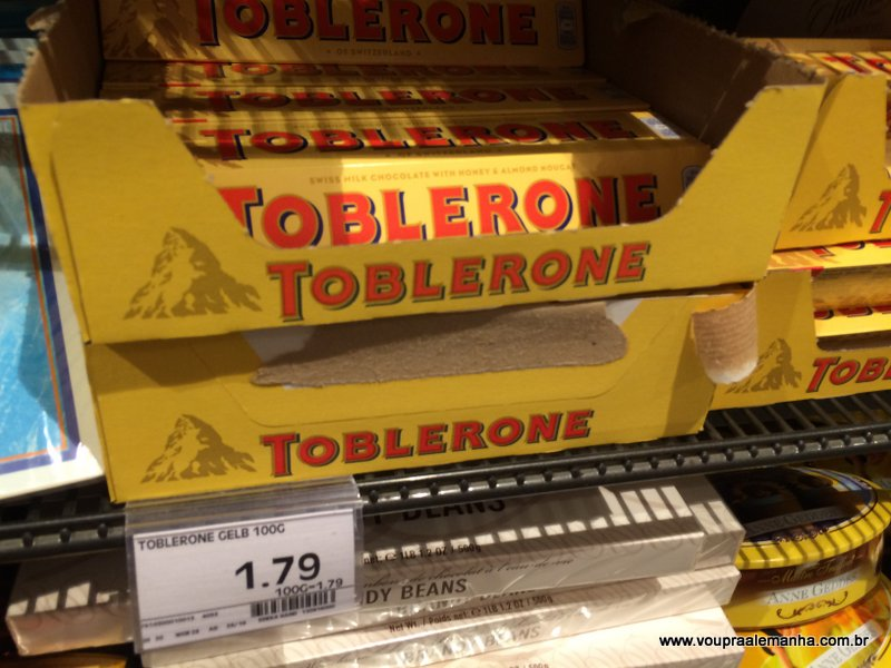 Toblerone 100g: €1,79